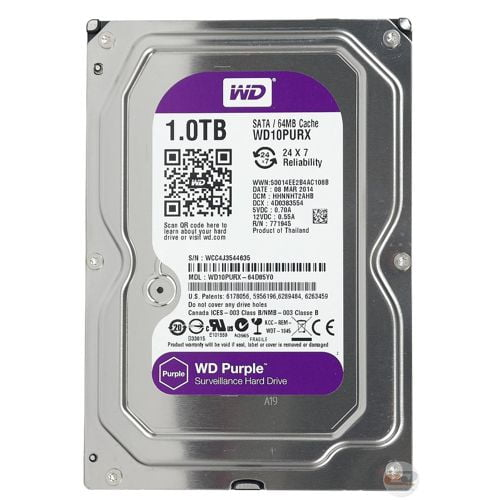 DISCO RIGIDO 1TB WESTERN DIGITAL PURPLE